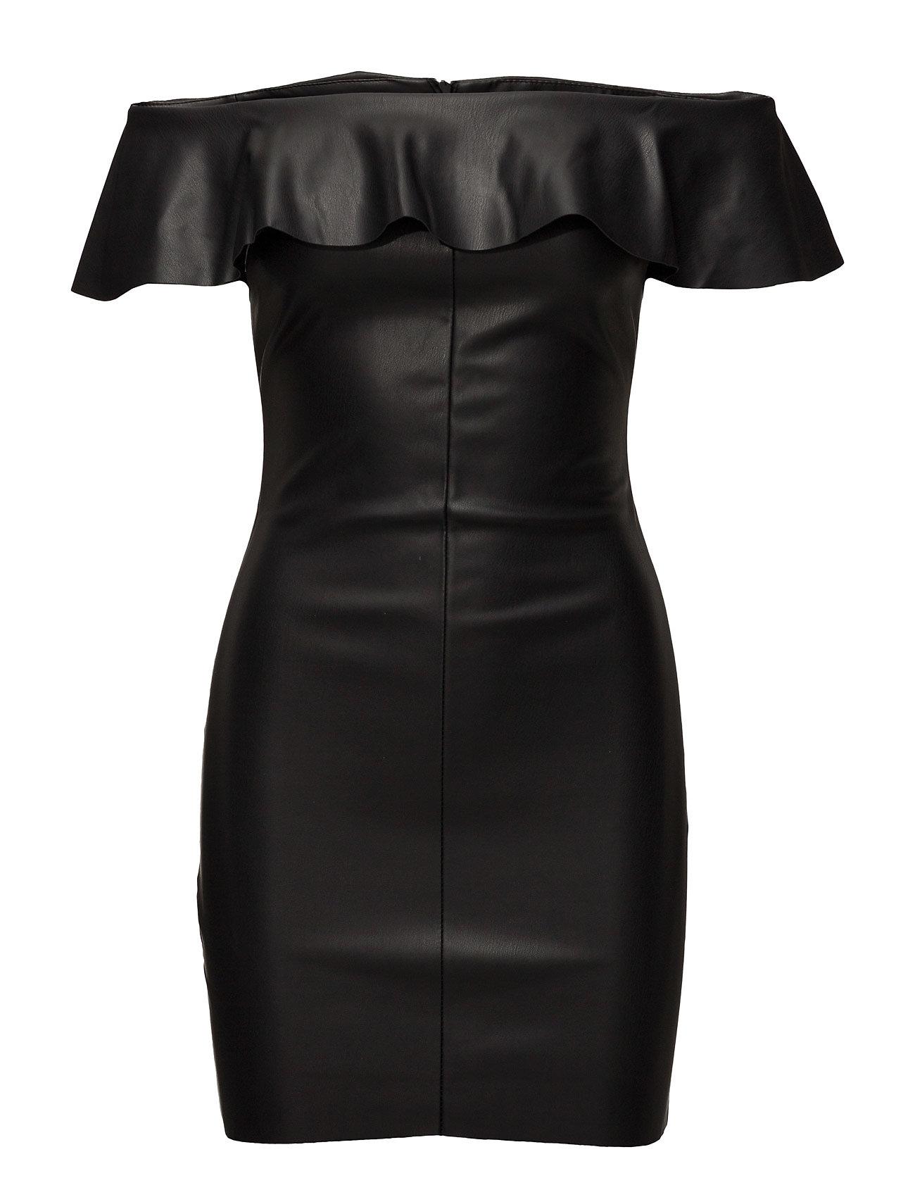 Ruffled Off-Shoulder Dress Mango Korte kjoler til Damer i Sort