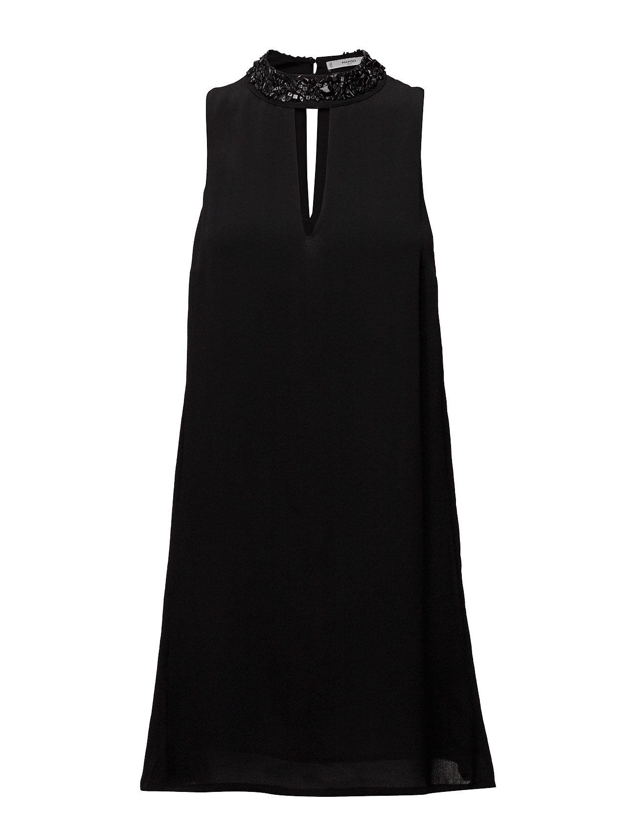 Crystal Collar Dress Mango Korte kjoler til Damer i Sort