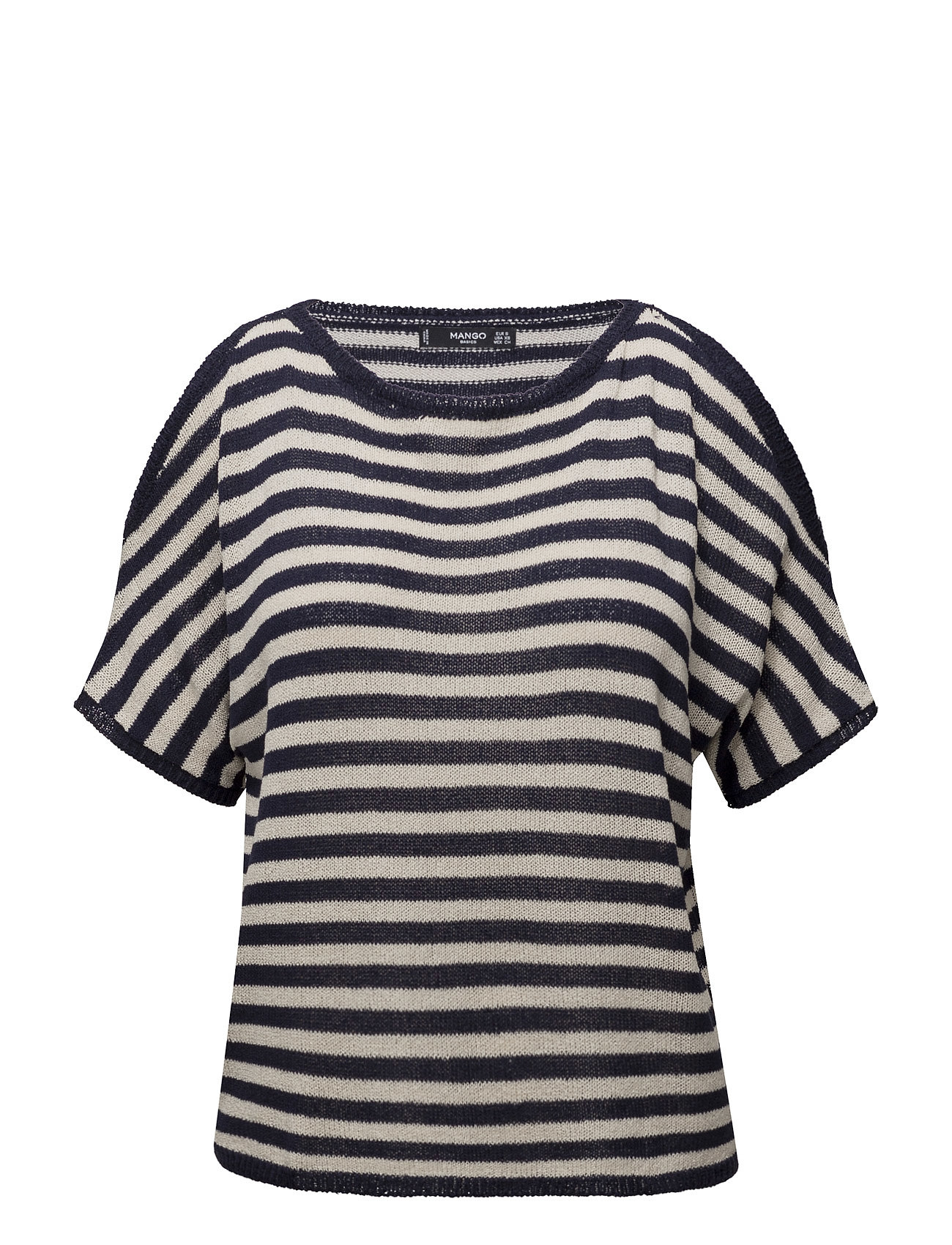 Cut-Out Knitted Sweater Mango Kortærmede til Damer i Navy blå