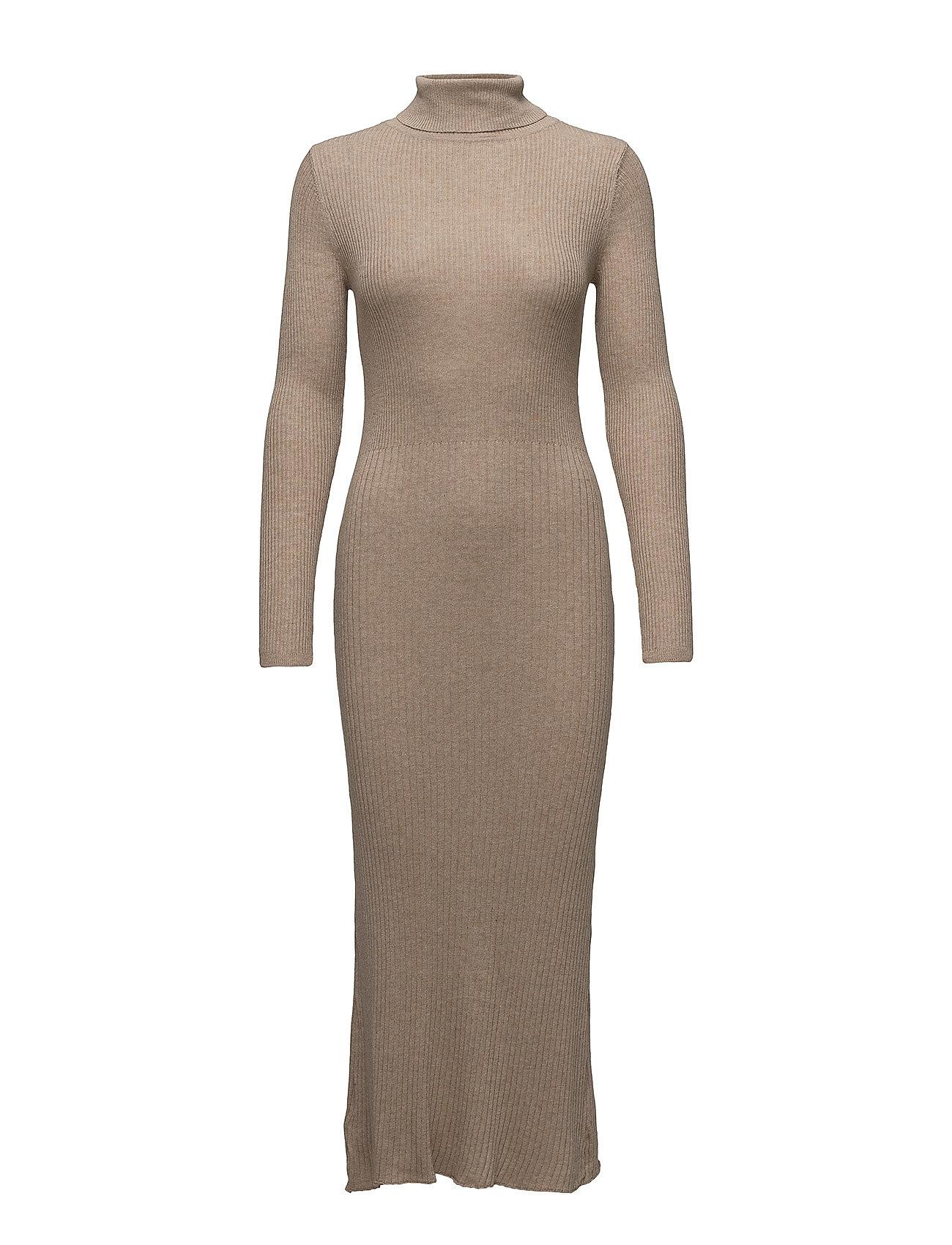 ea381615b3e3 Ribbed Long Dress Mango Maxi Kjoler til Damer i Medium Brown ...