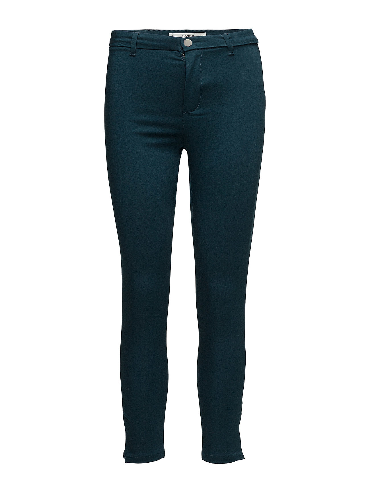 Zip-Pocket Slim-Fit Trousers Mango Skinny til Damer i Grøn