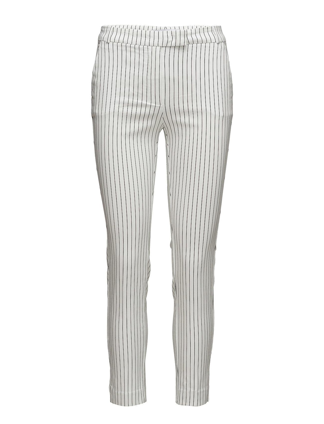 Crop Slim-Fit Trousers Mango Skinny til Damer i Natural White
