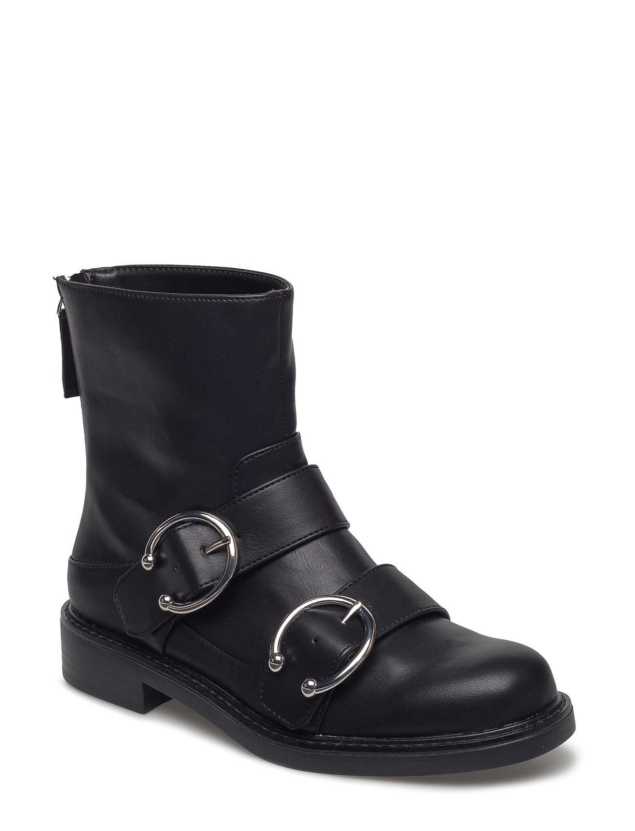 Piercing Detail Ankle Boots Mango Støvler til Damer i Sort
