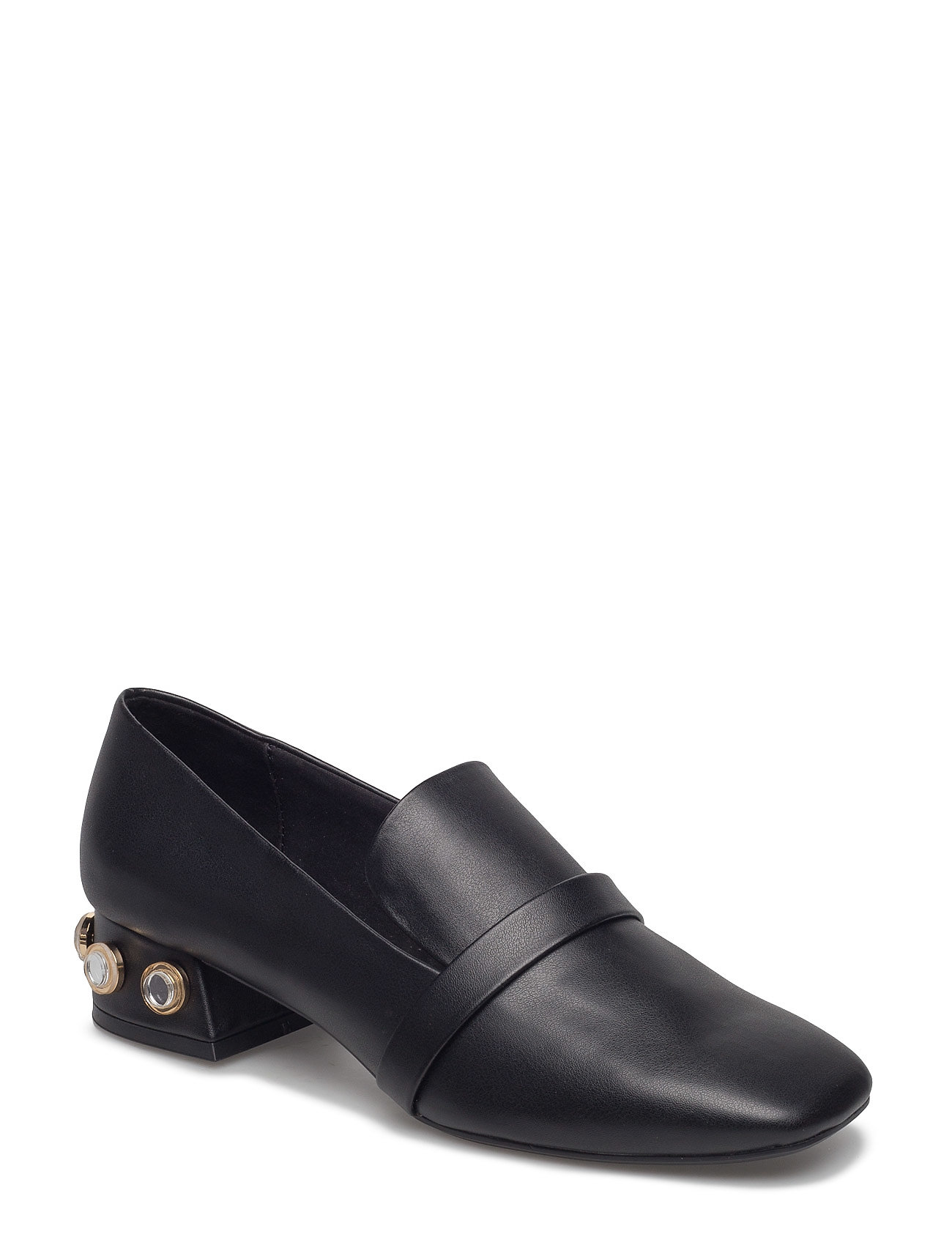 Mango Appliqu heel loafers