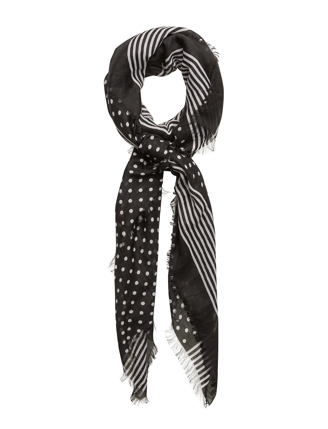 Contrasting Print Scarf