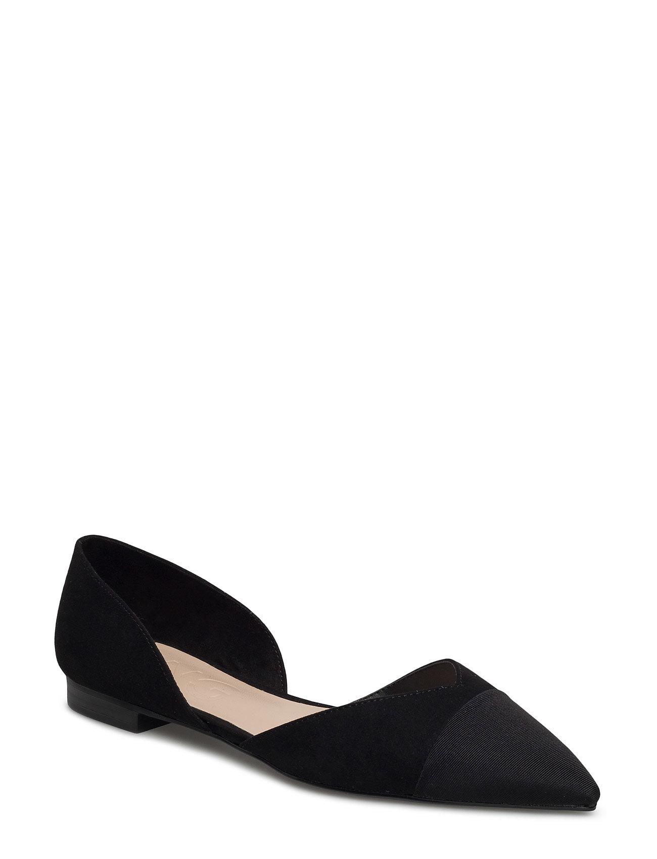 Pointed Toe Flat Shoes Mango Sko til Kvinder i Sort