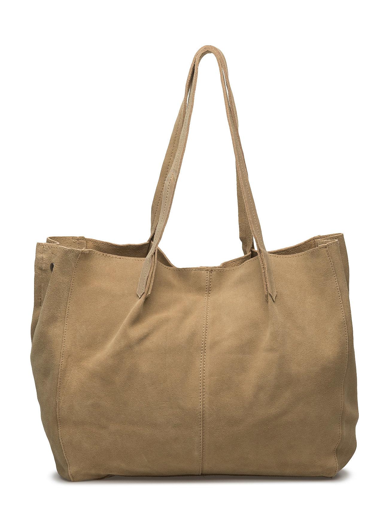 Leather Shopper Bag Mango Tasker til Kvinder i Light Beige