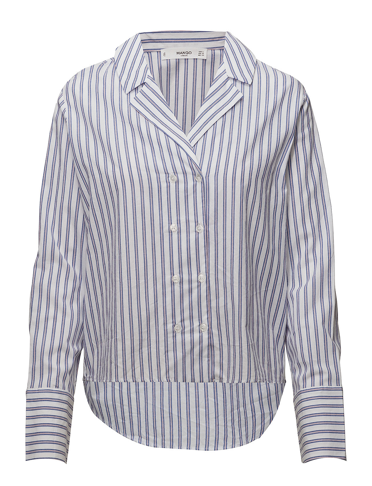 Mango Double-breasted striped shirt
