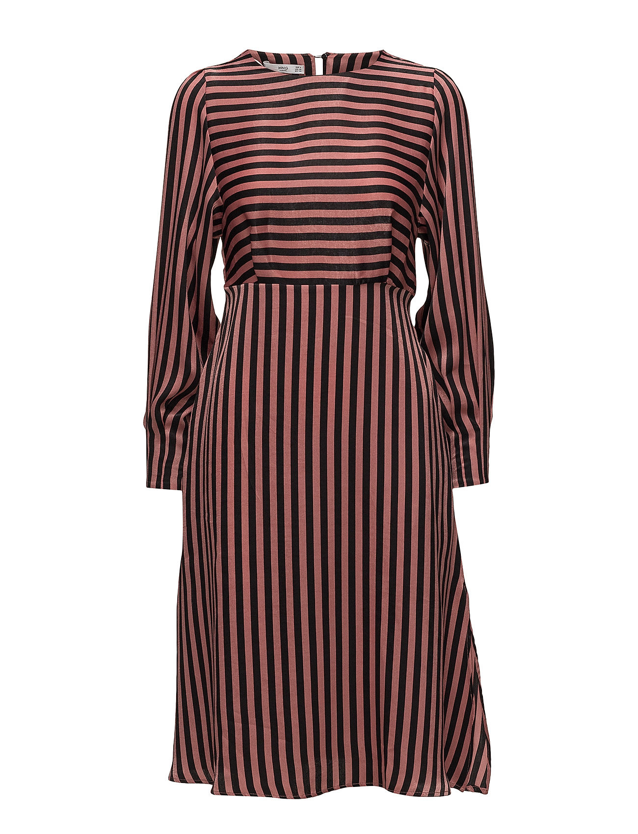 Mango Striped midi dress