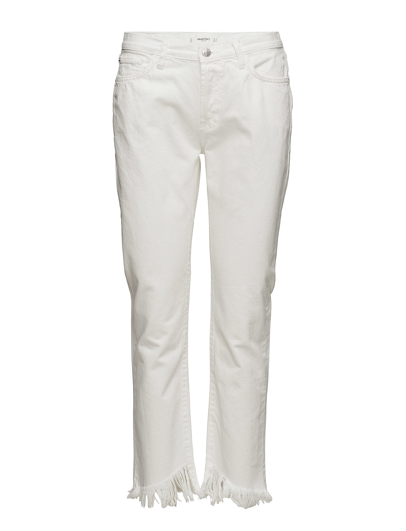 Mango Frayed relaxed jeans