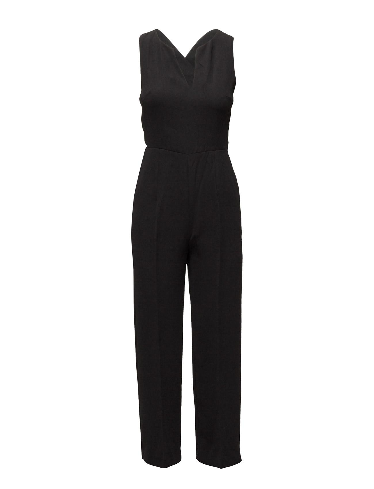 Wrap-Back Short Jumpsuit Mango  til Kvinder i Sort