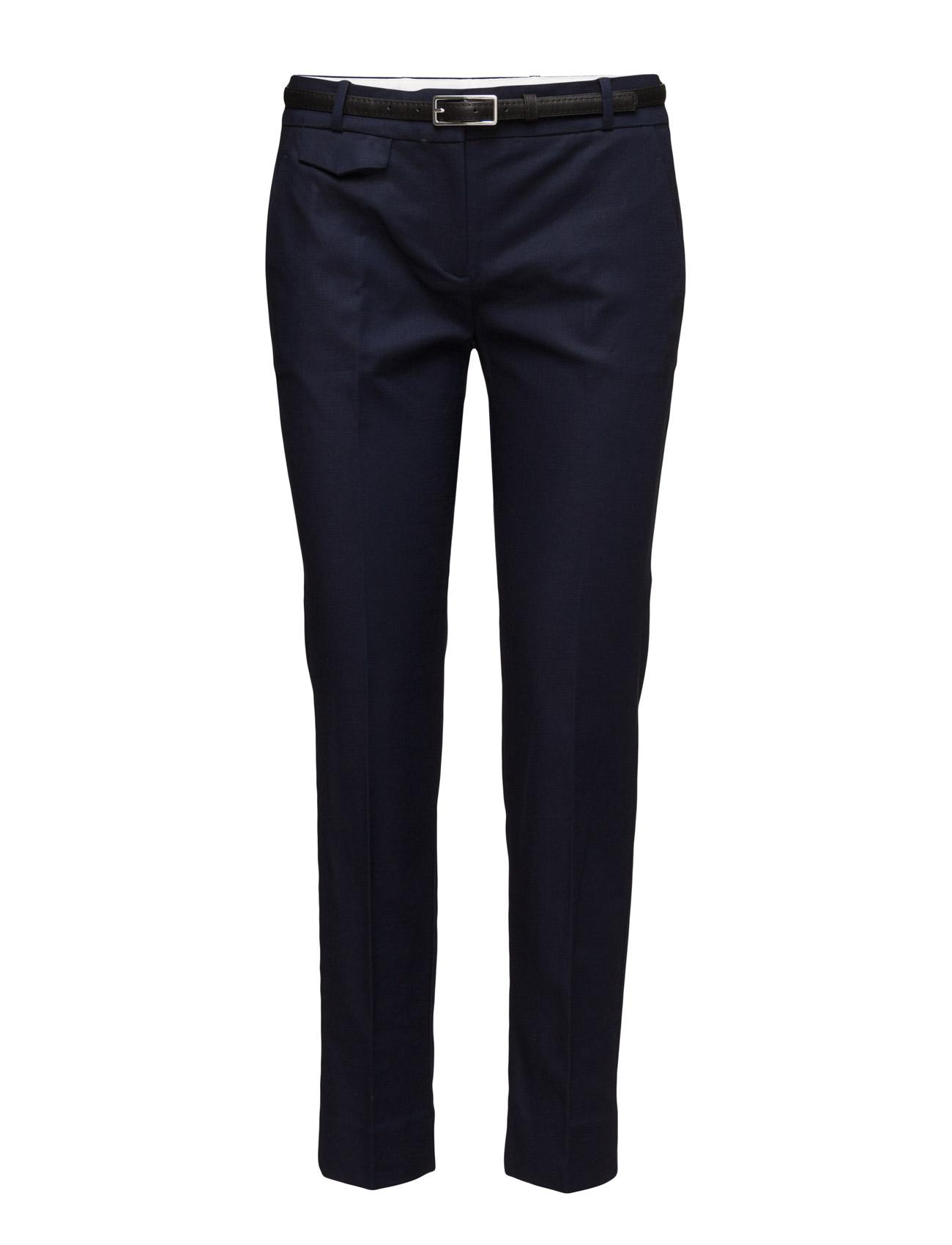 Straight Cotton Trousers Mango Bukser til Kvinder i Sort