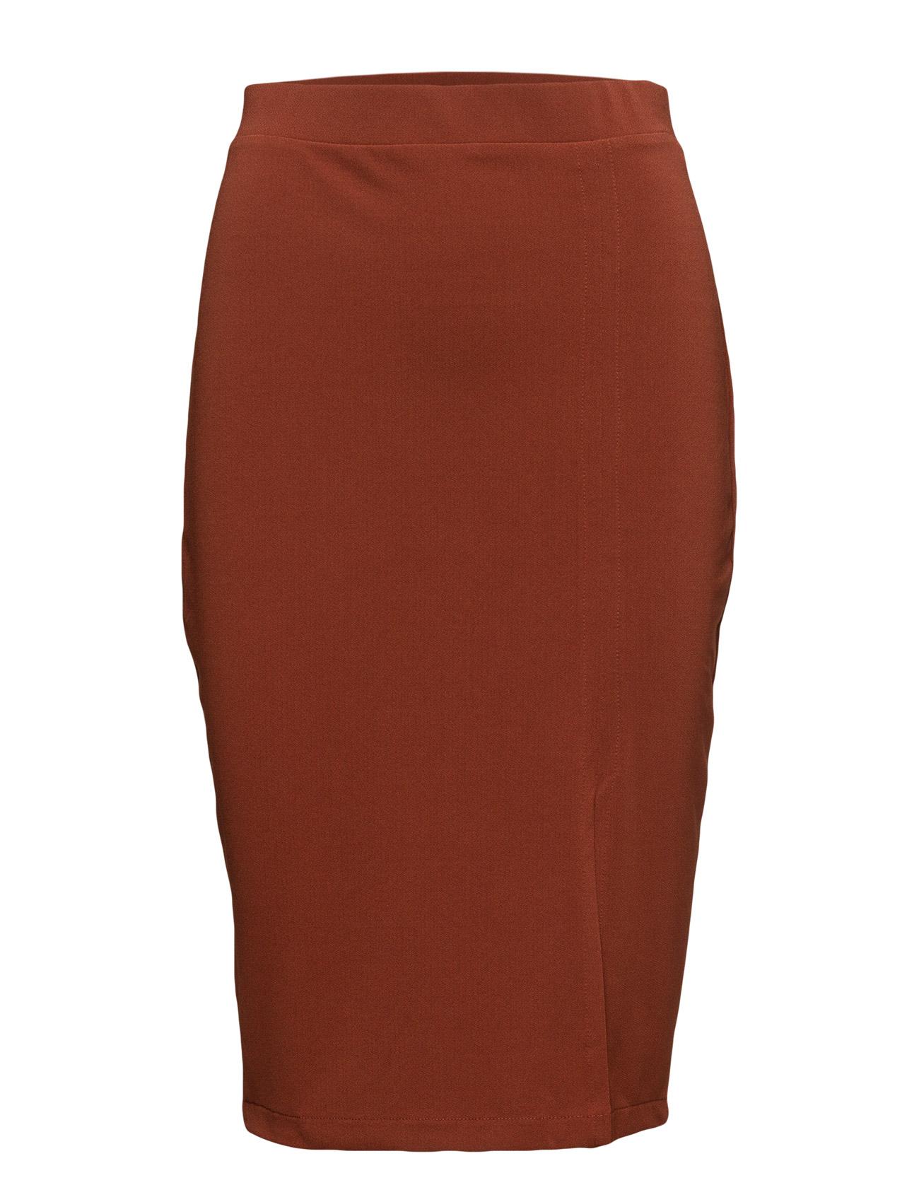 Stretch Pencil Skirt Mango Blyantsnederdele til Kvinder i Medium Orange