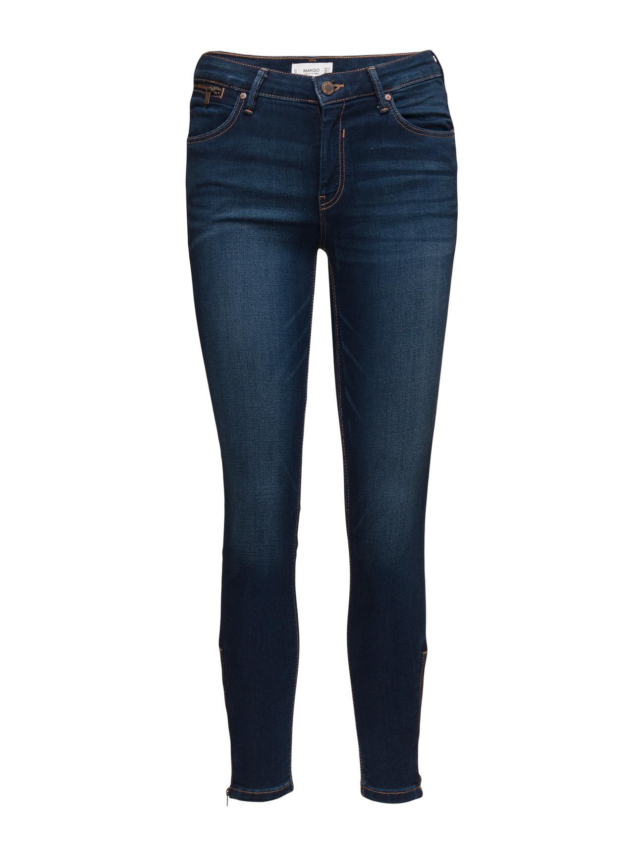 Slim-Fit Tattoo Jeans Mango Skinny til Kvinder i Open Blå
