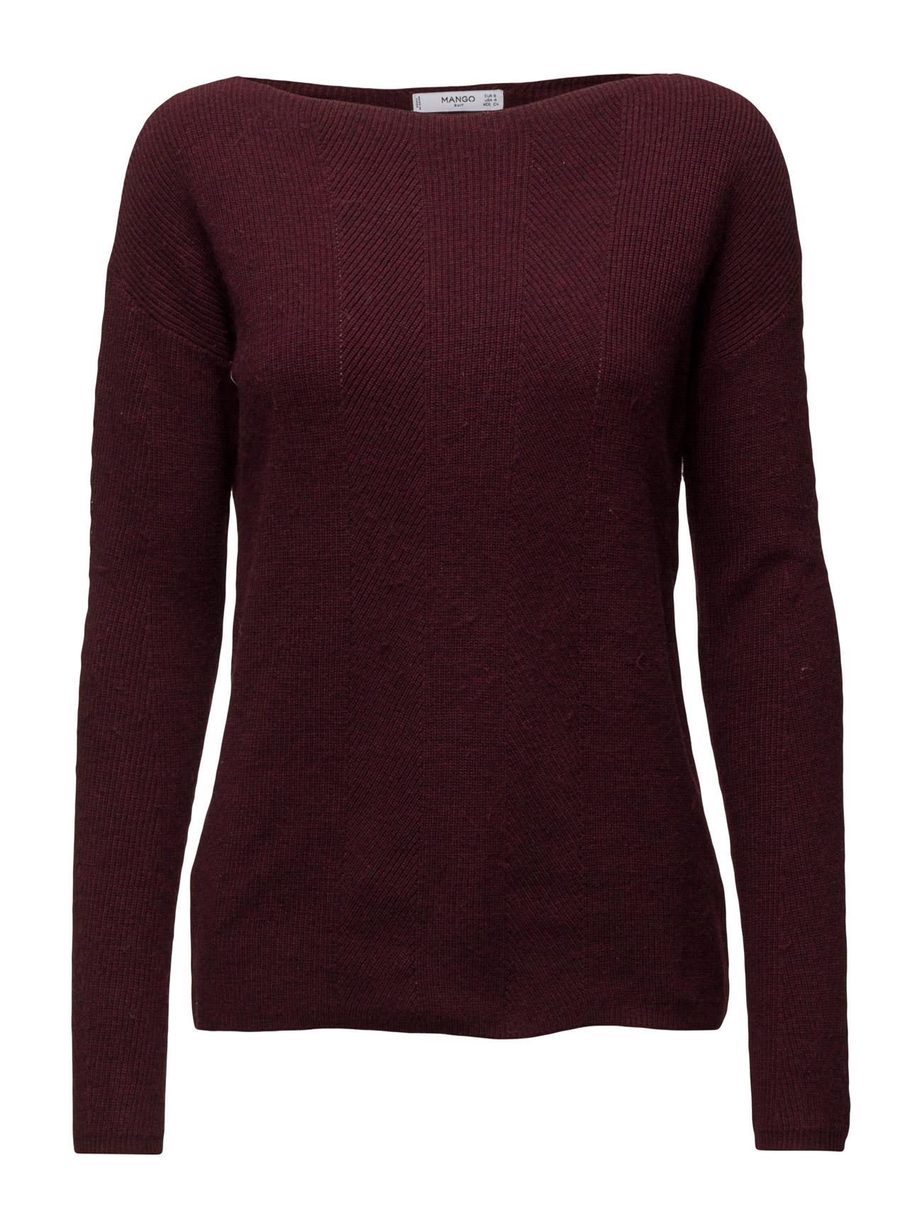 Ribbed Wool-Blend Sweater Mango Sweatshirts til Kvinder i Lt Pastel Grey
