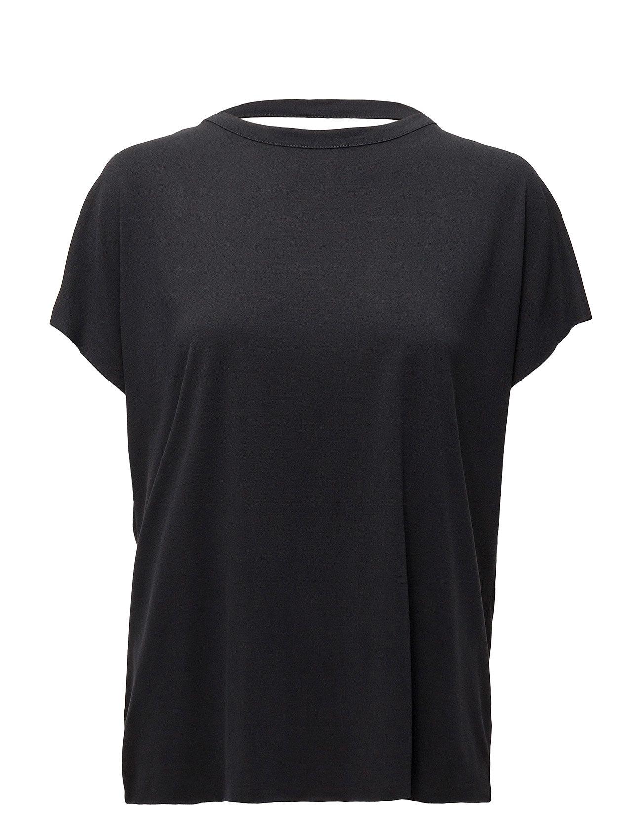 Modal T-Shirt Mango Kortærmede til Kvinder i Medium Orange
