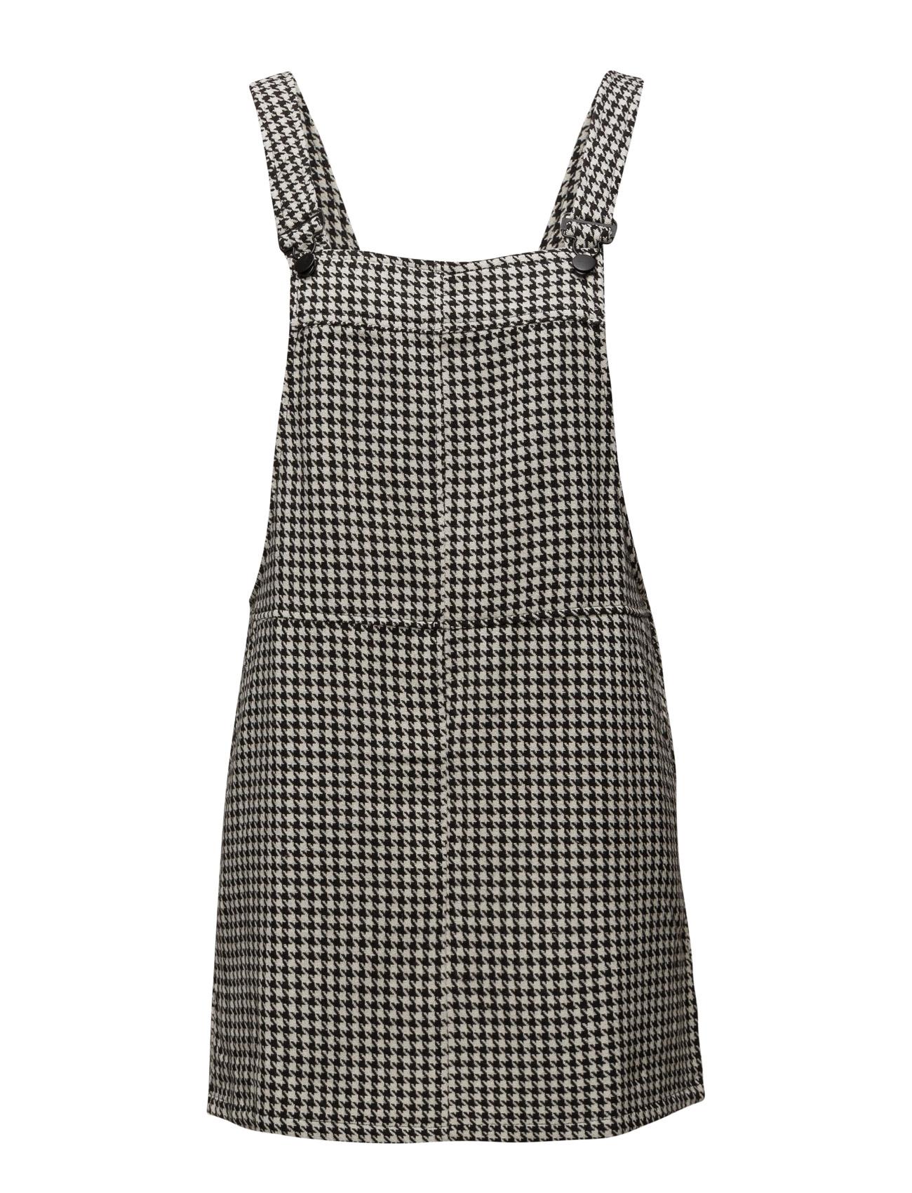 Houndstooth Pinafore Dress Mango Korte kjoler til Kvinder i Sort