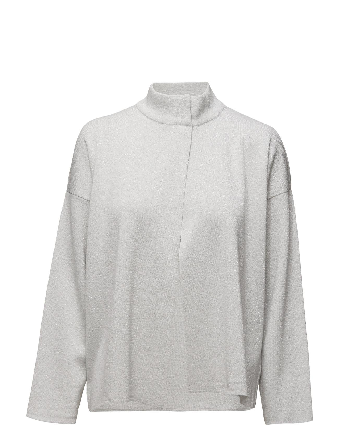 Metallic Thread Jacket Mango Cardigans til Kvinder i Sølv