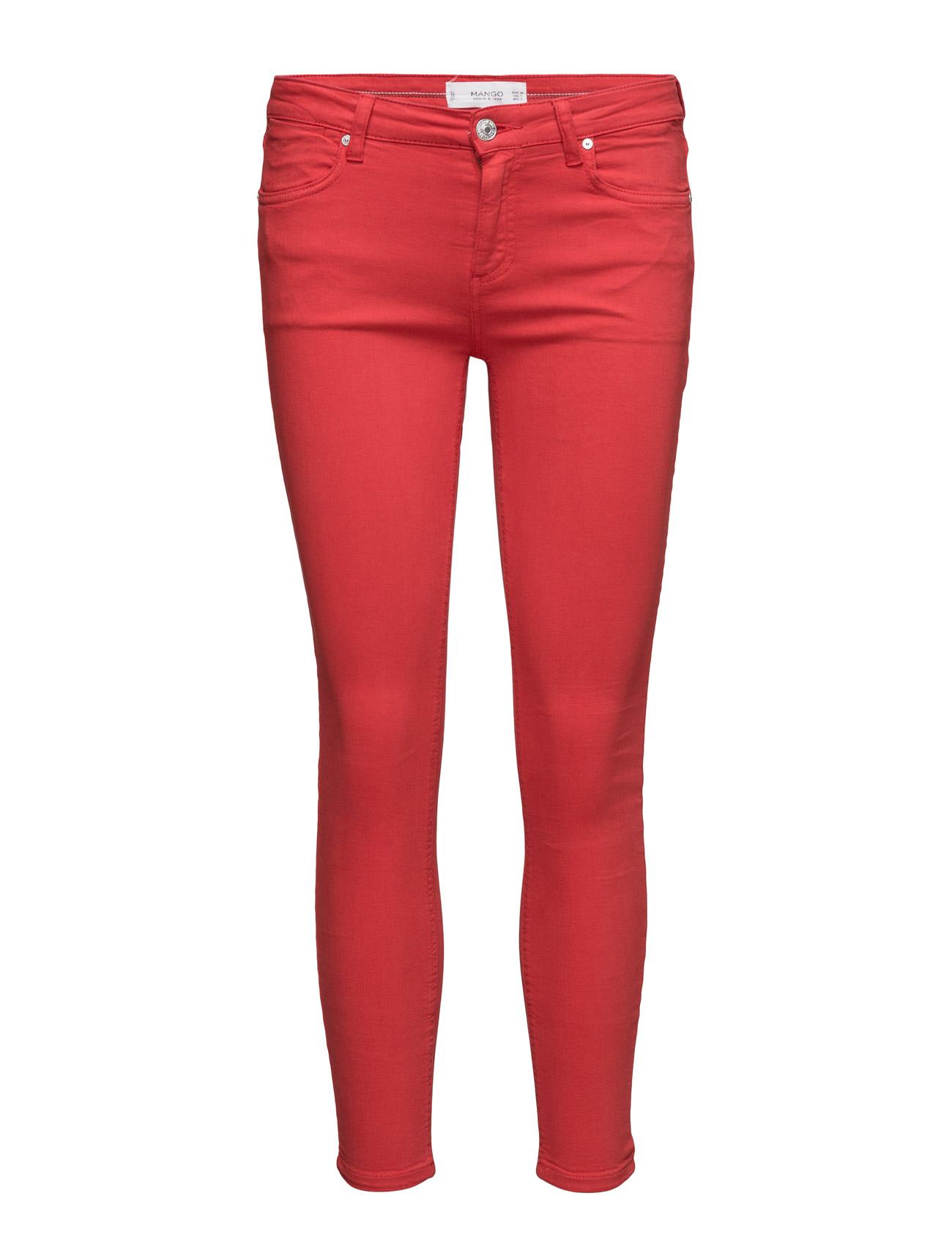 Crop Skinny Isa Jeans Mango Skinny til Kvinder i Rød