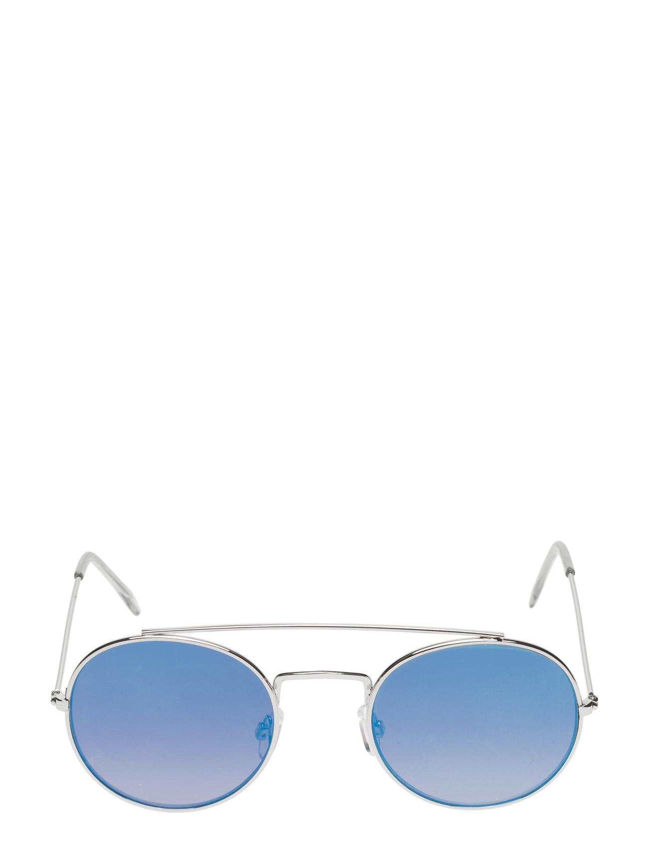 Round Mirrored Sunglasses Mango Solbriller til Kvinder i Sølv