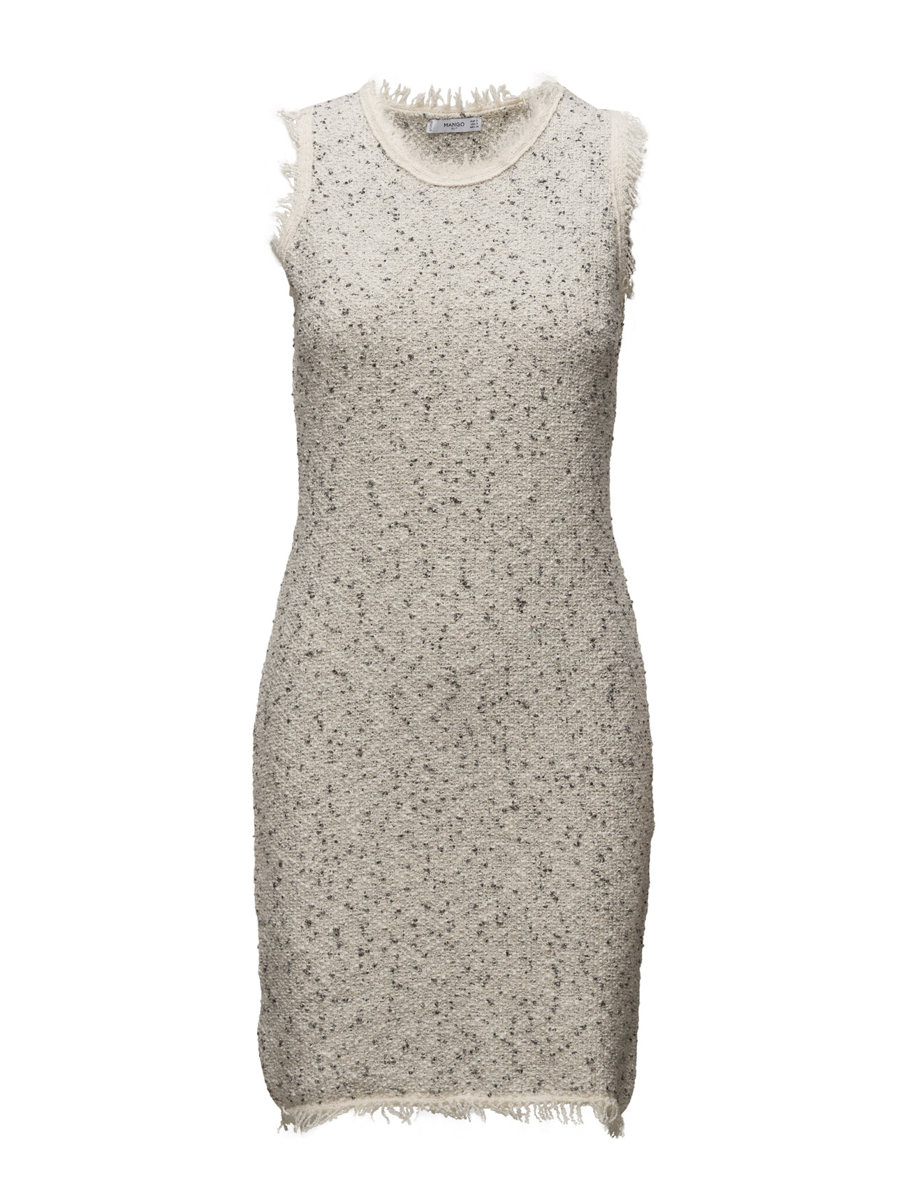 Flecked Dress Mango Striktøj til Kvinder i Light Beige