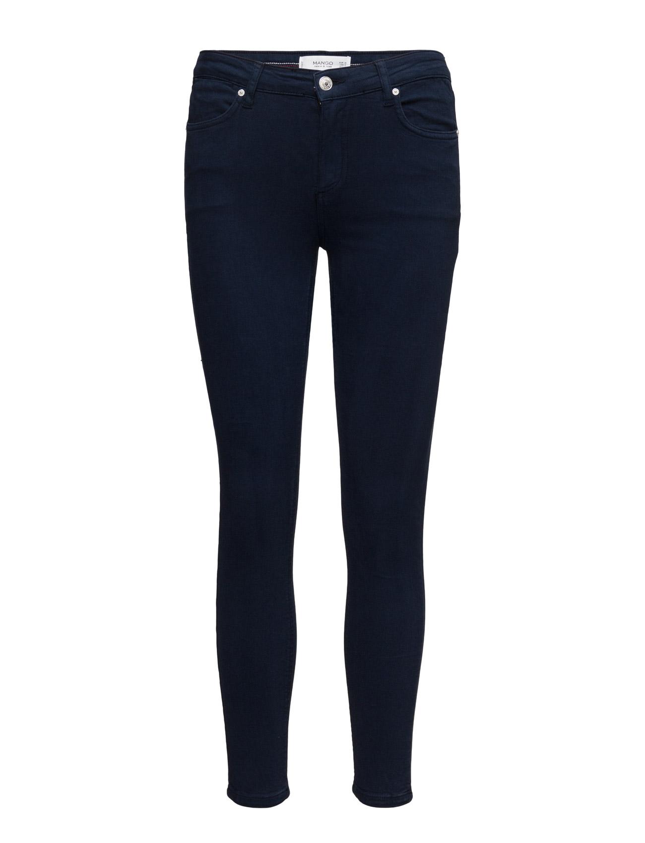 Crop Skinny Isa Jeans Mango Skinny til Kvinder i Navy blå
