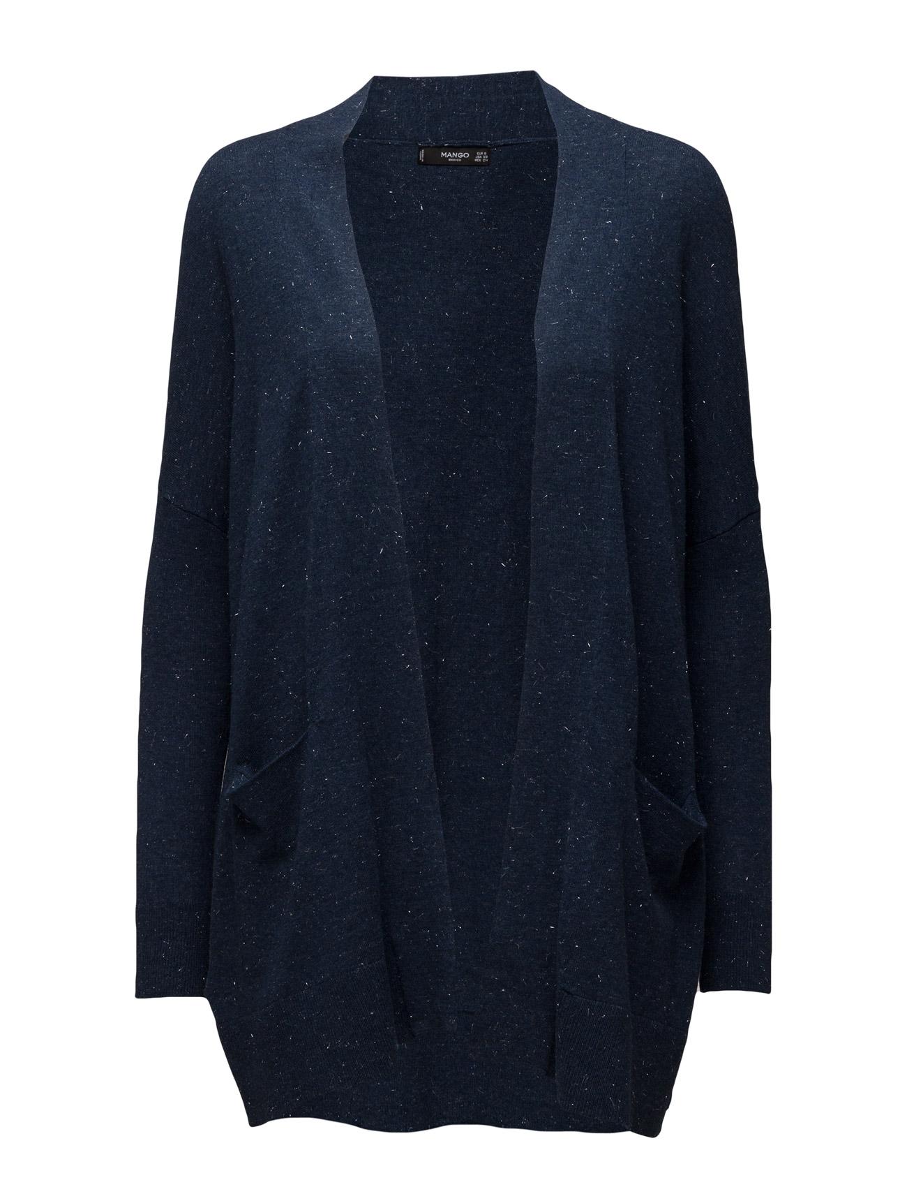 Flecked Cotton-Blend Cardigan Mango Cardigans til Kvinder i Mellem grå