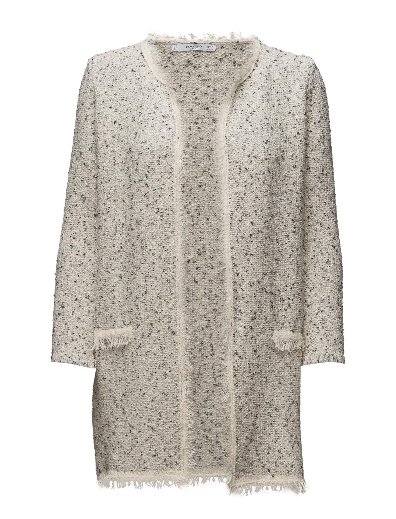 Flecked Cotton-Blend Cardigan Mango Cardigans til Kvinder i Light Beige