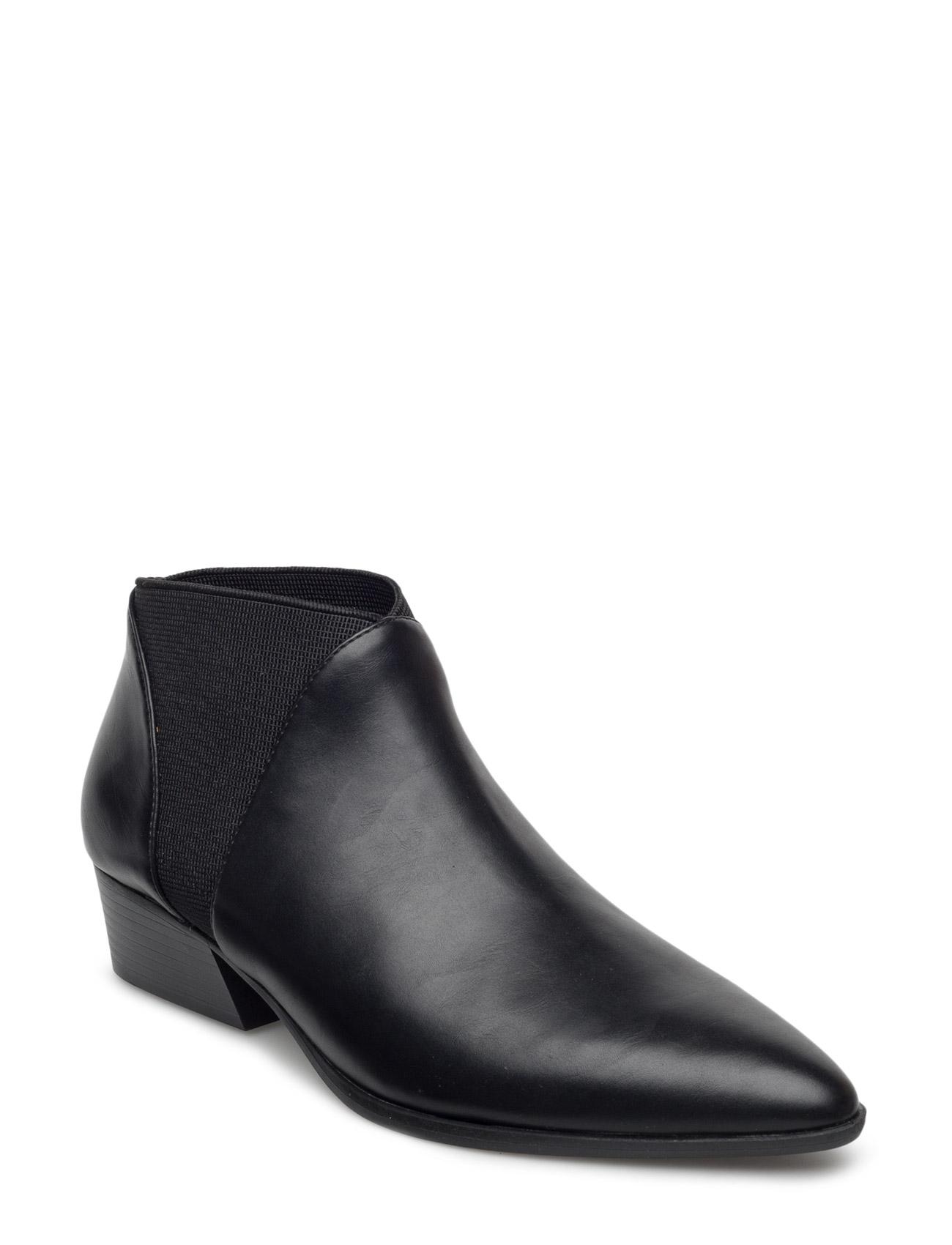 Elastic Panels Ankle Boot Mango Støvler til Kvinder i Sort