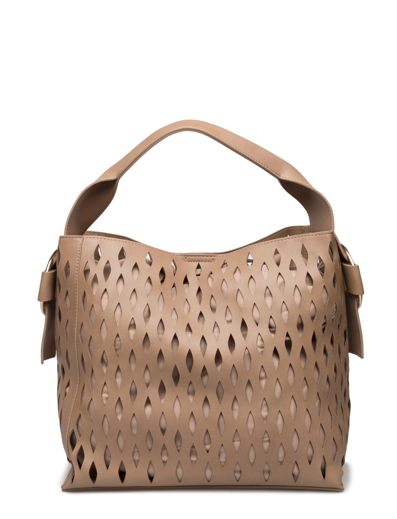 Laser-Cut Design Bag Mango Shopper tasker til Kvinder i Pink
