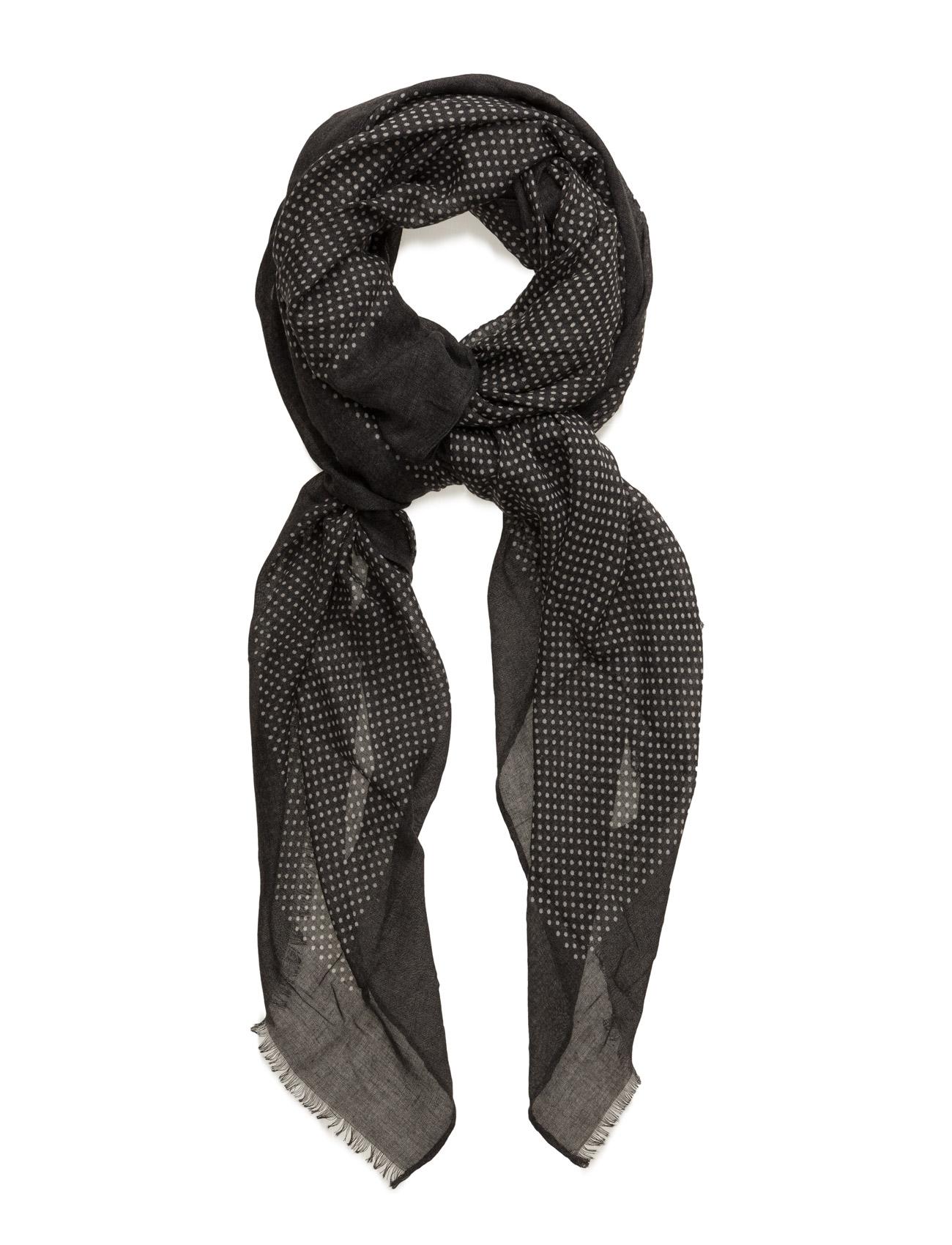 Spots Print Scarf Mango Halstørklæder til Kvinder i Mørkegrå