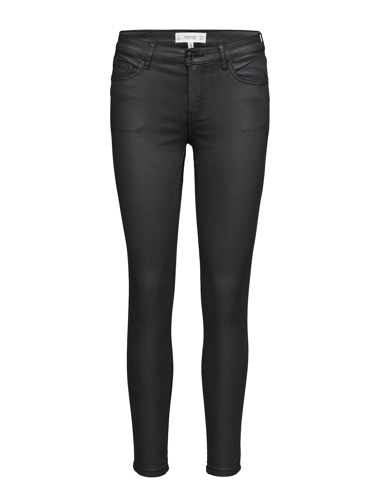 Waxed Skinny Belle Jeans Mango Skinny til Kvinder i Sort