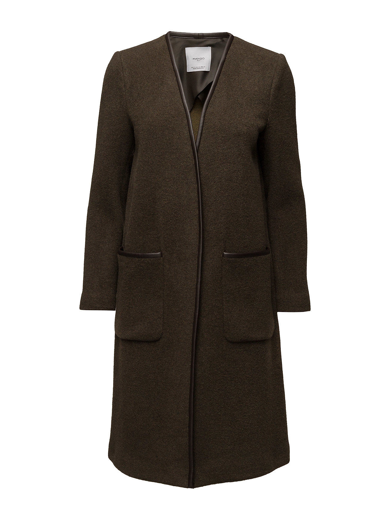 Pockets Wool Coat Mango Frakker til Damer i
