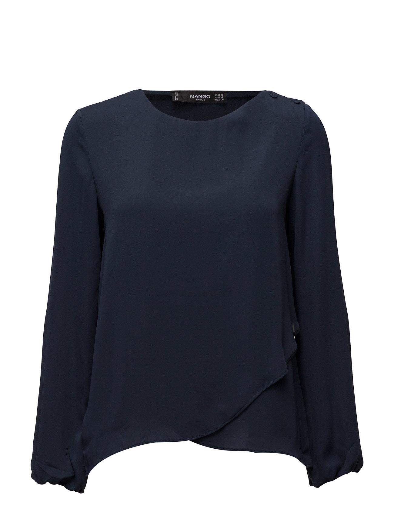 Wrap Blouse Mango Bluser til Kvinder i Navy blå