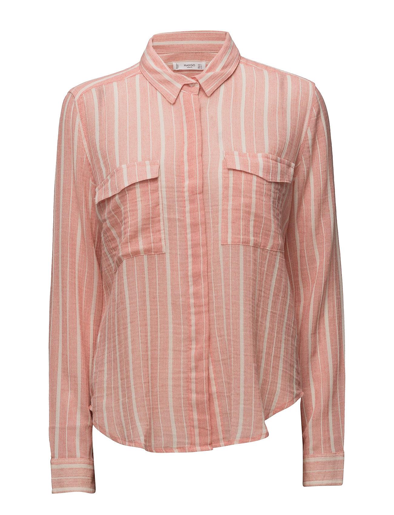 Striped Cotton Shirt Mango Barn