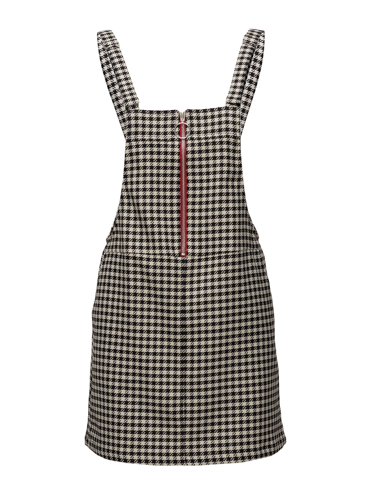 Two-Tone Printed Pinafore Dress Mango Kjoler til Kvinder i