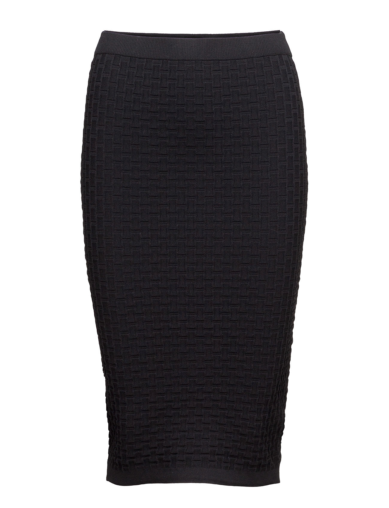 Midi Textured Skirt Mango Blyantsnederdele til Damer i Sort