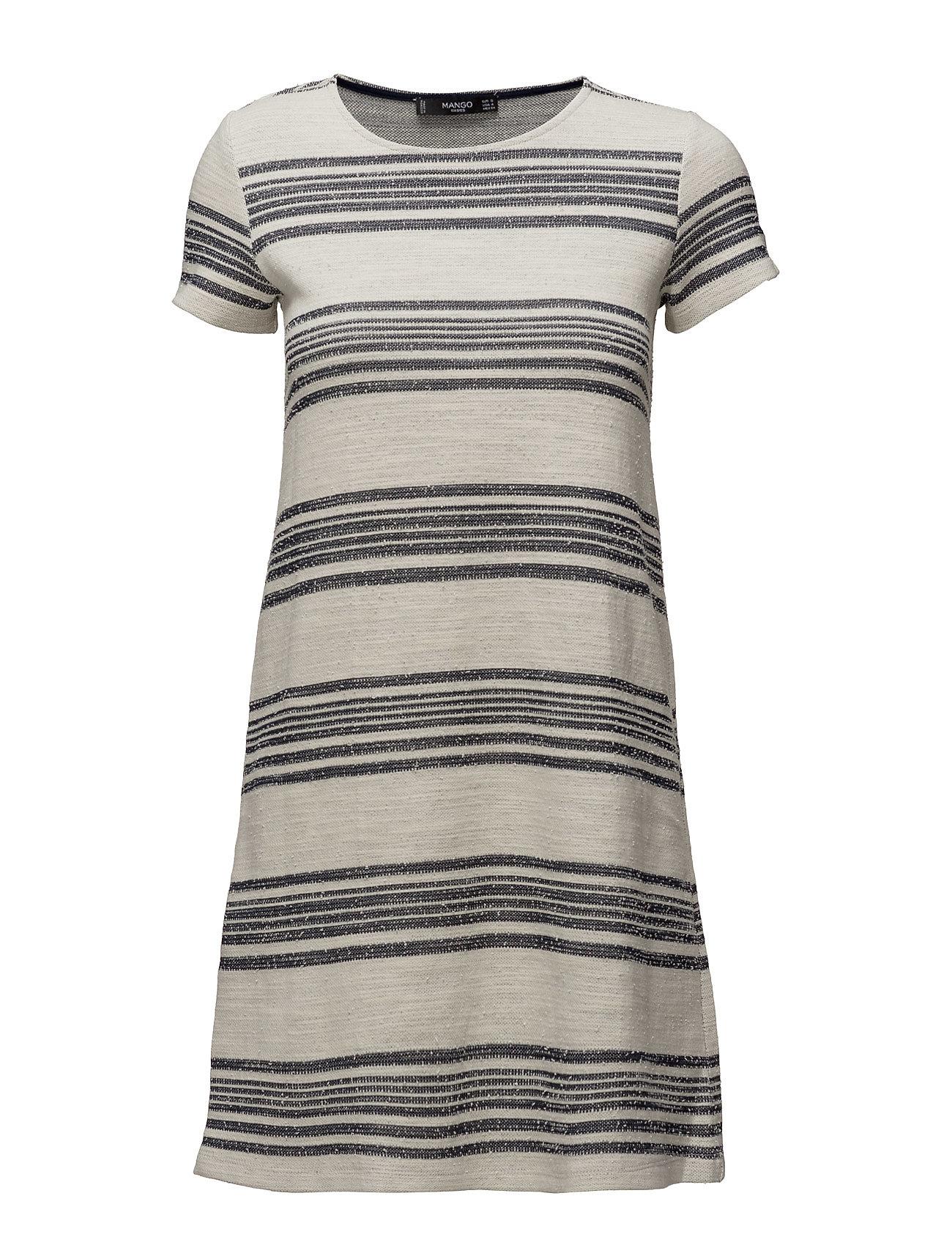 Printed Cotton Dress Mango Korte kjoler til Damer i Natural White
