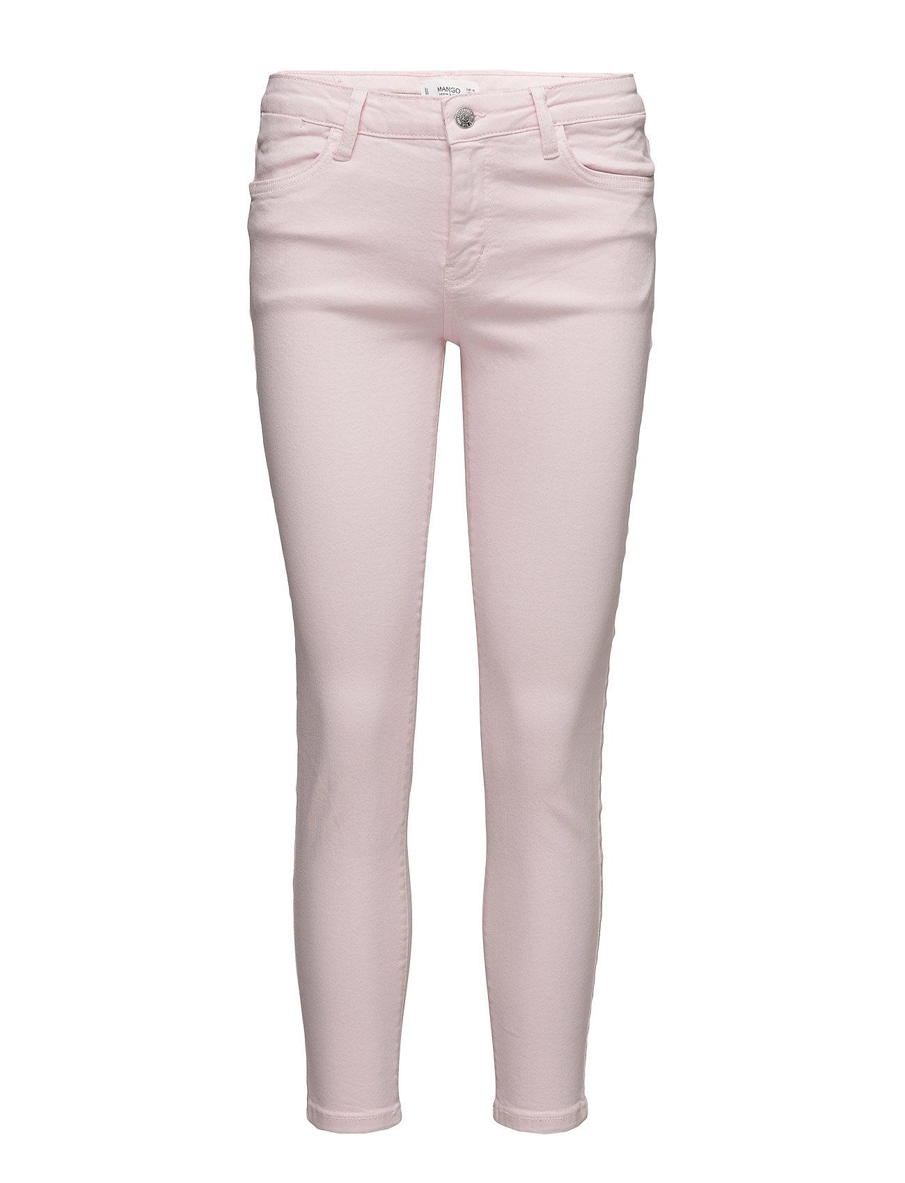 Crop Skinny Isa Jeans Mango Jeans til Kvinder i Lyserød