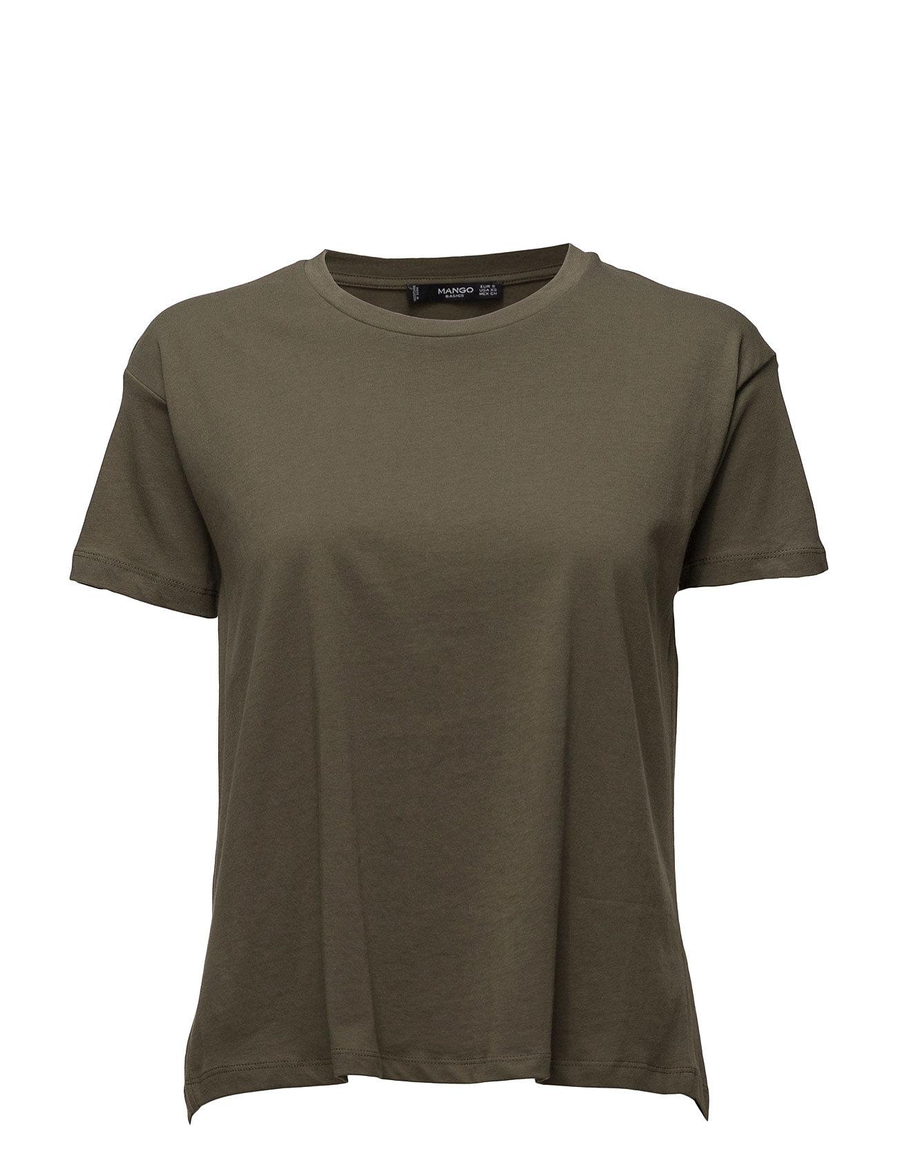 Bow Cotton T-Shirt Mango Kortærmede til Damer i