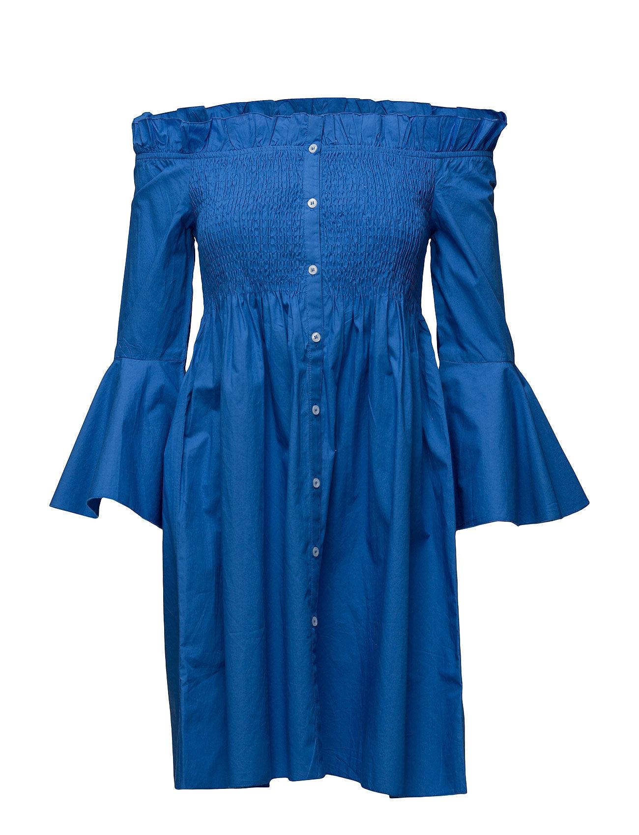 Ruched Detail Dress Mango Kjoler til Kvinder i Medium Blå