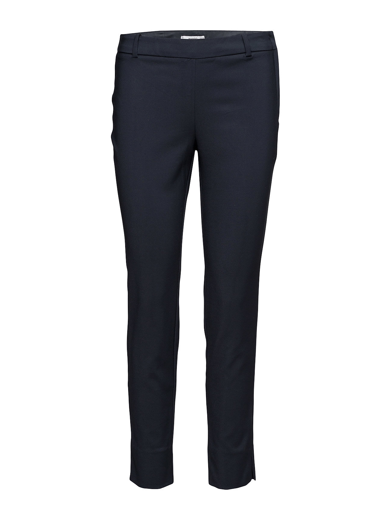 Crop Slim-Fit Trousers Mango Bukser til Damer i Navy blå
