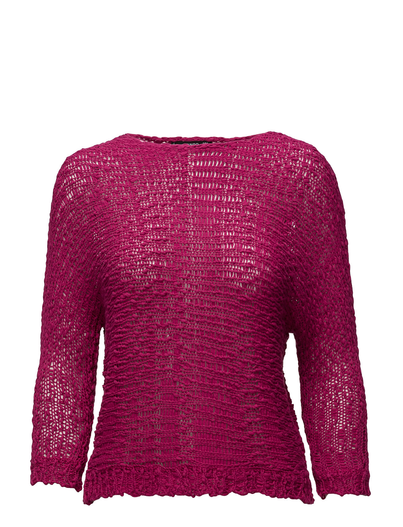 Openwork Knit Sweater Mango Sweatshirts til Damer i Bright Pink