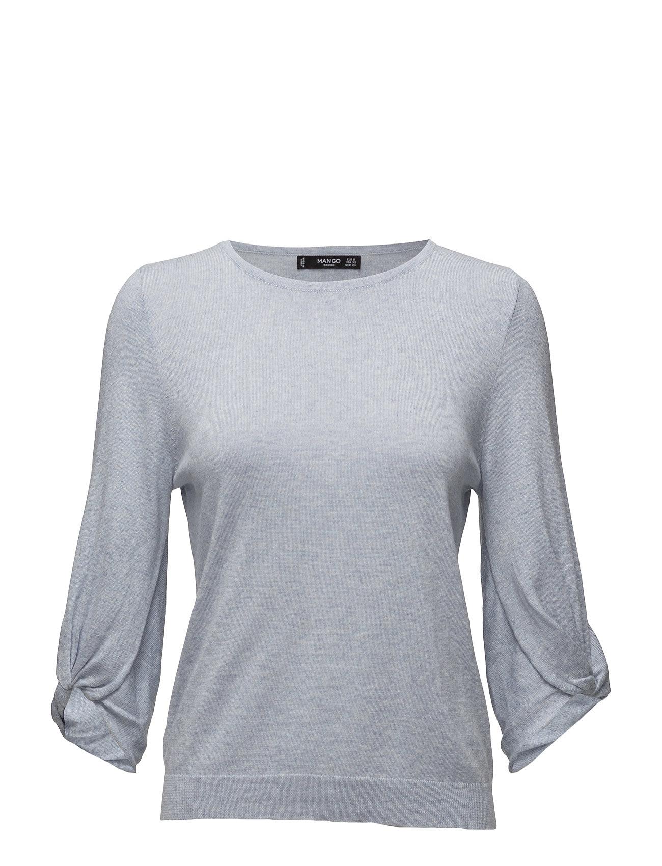 Sleeve Knotted Sweater Mango Sweatshirts til Damer i Lt-Pastel blå
