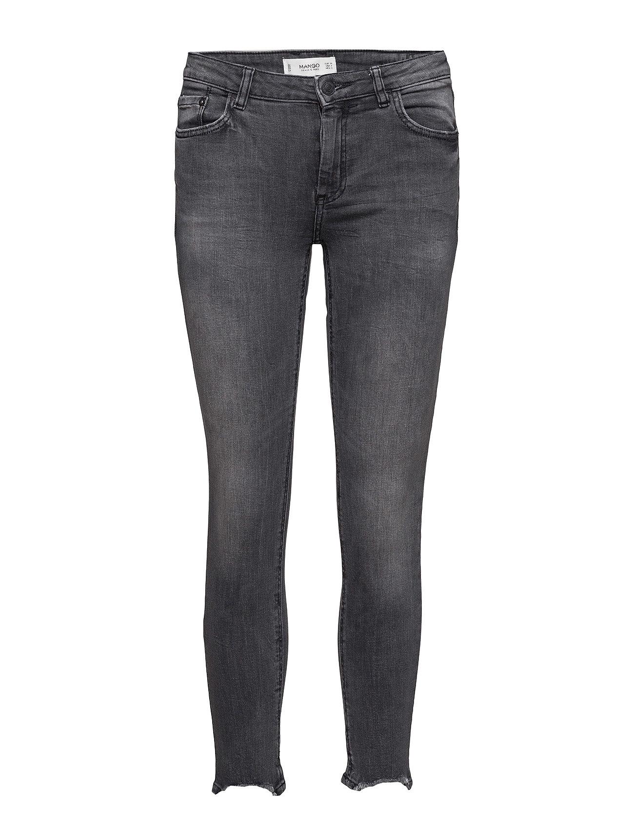 Crop Skinny Isa Jeans Mango Jeans til Kvinder i Open Grey
