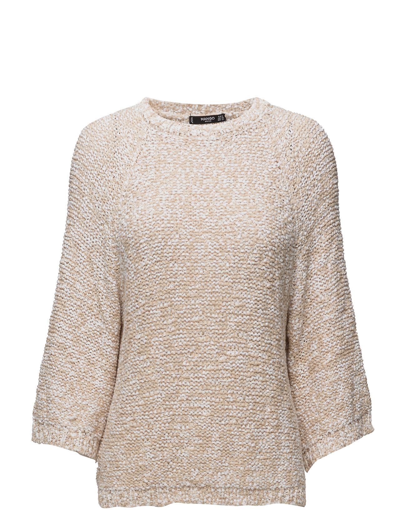 Bicolor Cotton Sweater Mango Striktøj til Kvinder i