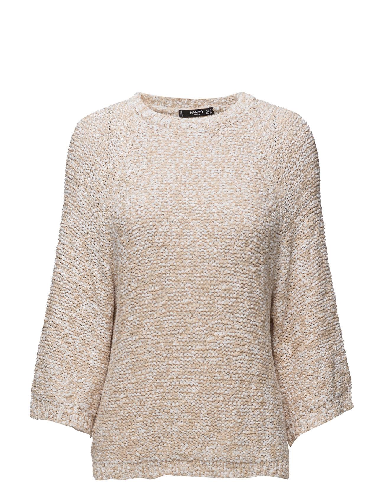 Bicolor Cotton Sweater Mango Sweatshirts til Damer i