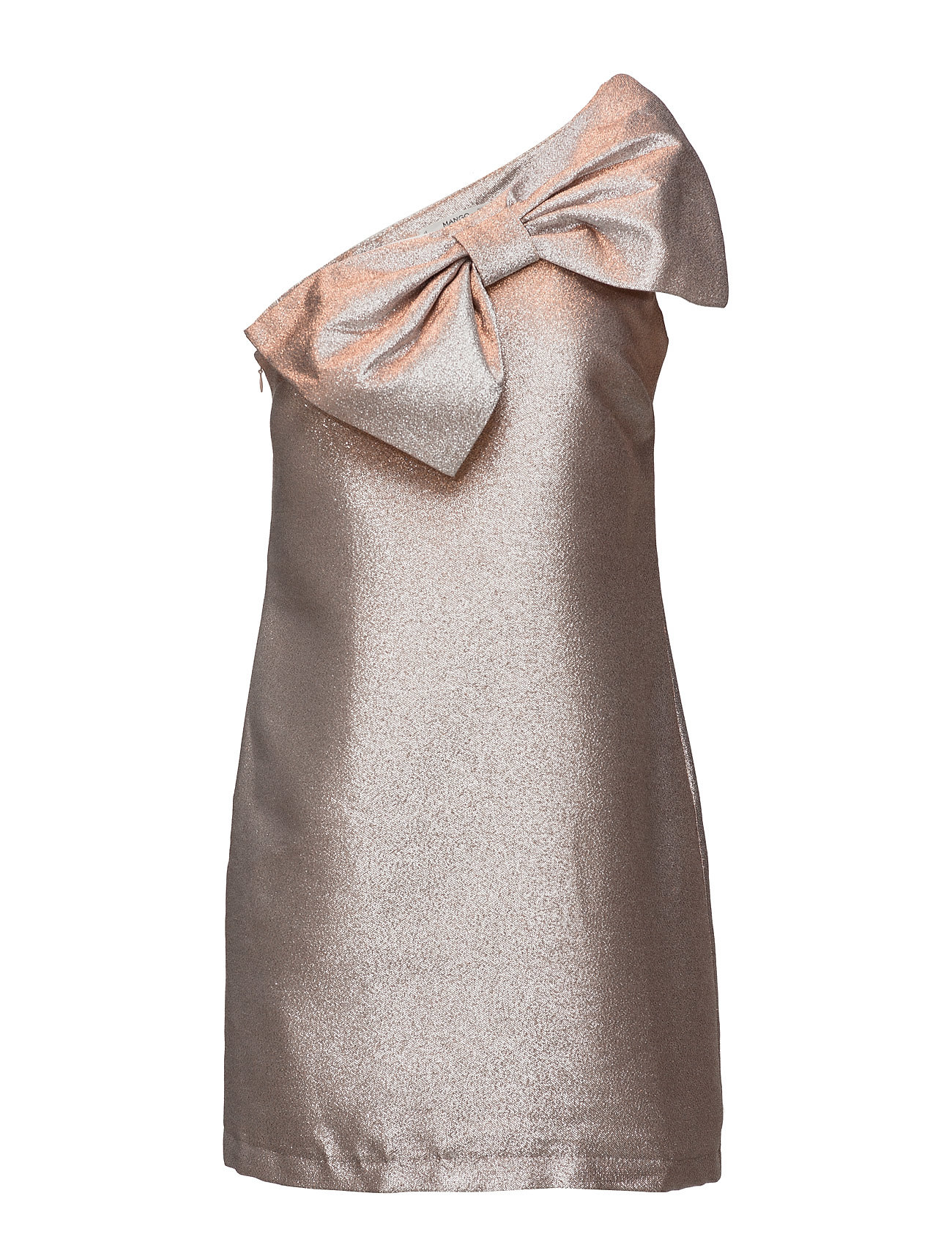 b556e923 Superlekre Bow Metallic Dress Mango Korte Kjoler til i skjønne materialer
