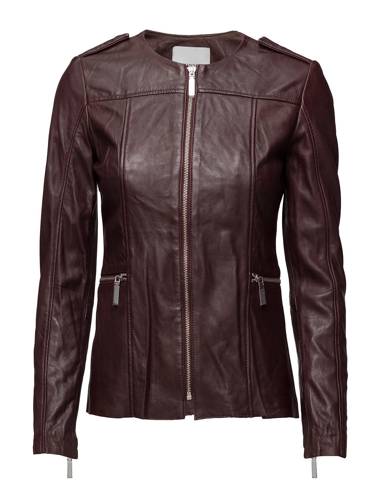 Zip Leather Jacket Mango Jakker til Damer i