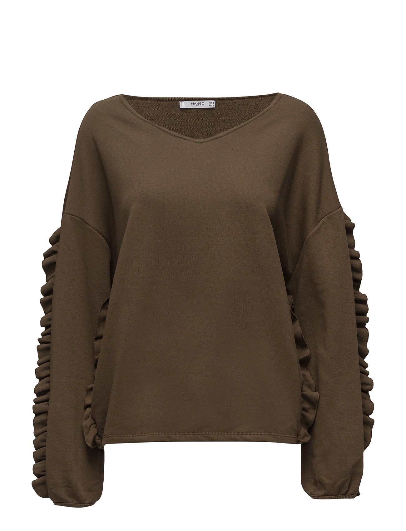 Ruffled Cotton Sweatshirt Mango  til Damer i